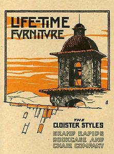 Life Time Furniture Grand Rapids Bookcase Chair Company Catalog Reprint
