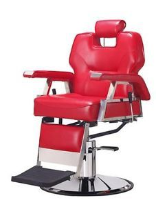 New Red Heavy Duty Hydraulic Recline Barber Chair Salon Beauty Shampoo 37R