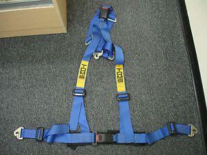 Toms Tom's 4PT 4 Point Blue Seat Belt Harness Racing Harness Toyota RARE JDM