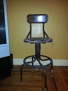 Vintage Metal Bar Stool Bell Telephone Operator Switchboard Chair Height Swivel