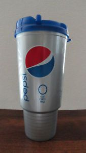 Diet Pepsi 32 oz Spill Proof Cup w Lid Cooler Mug New Thermos Car Sport
