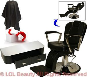 Hydraulic Reclining Barber Chair Styling Station Tattoo Beauty Salon Equipment