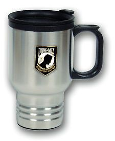 Pow MIA Stainless Steel Travel Coffee Mug Cup with Lid