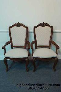 2 American Drew Bob Mackie Home Dining Arm Chairs
