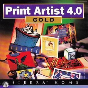 Print Artist 4 Gold w Cool 3D PC CD Design Cards Labels Crafts Publishing Tools