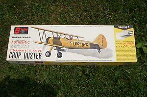 Sterling Balsa Wood Model Airplane Kit Stearman PT 17 Kadet Crop Duster