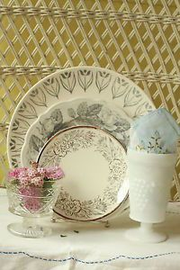 Mismatched Dinnerware Vintage Place Settings Mismatched China Dinnerware