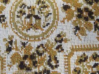 Mid Century Modern Needlepoint Woven Upholstery Fabric Vtg 50s 60s Heavy Sofa