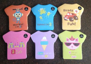 NIP Kid Children Boy Girl Birthday Shirt Tshirt and Card Age 2 3 4 You Pick Cute