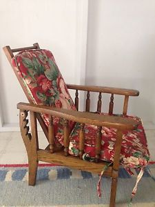 American Antique Oak Sales Man Salesman Sample Morris Chair Child'S