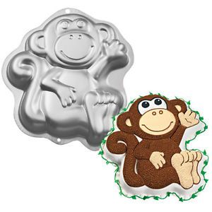 Wilton Metal Monkey Cake Pan Birthday Party Supplies Jungle Zoo Baking