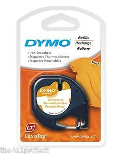 Dymo LetraTag 18771 Iron on Fabric Label Tapes Letra Tag Lt 100T Lt 100H XR QX50