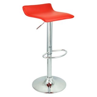 6 New Modern Bar Stool Red Swivel Bombo Chair Pub Barstools Chrome Counter Ale