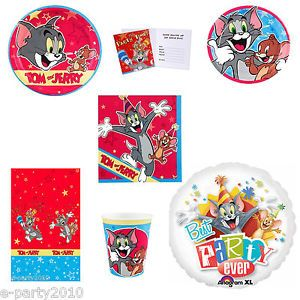Tom and Jerry Cartoon Birthday Party Supplies Create Your Set You Pick BX