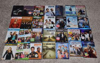 Lot of 28 TV Series DVD Blu Ray Movies Walking Dead Trueblood The Office Etc