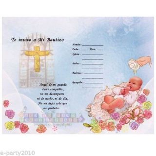 12 TE Invito A MI Bautizo Invitaciones Baby Baptism Party Supplies Invitations