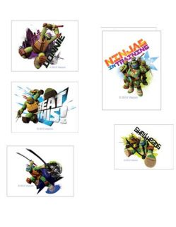 24 Teenage Mutant Ninja Turtles Temporary Tattoos Party Favors