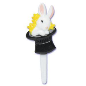 Magic Hat Rabbit Cupcake Picks Cake Topper Magician Decoration Party Supplies 24