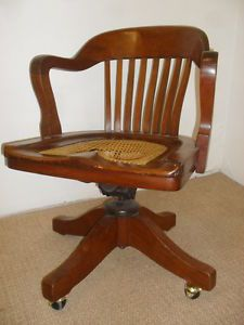 RARE Antique Vintage Johnson Chair Co Chicago USA 20th Century Office Desk Chair