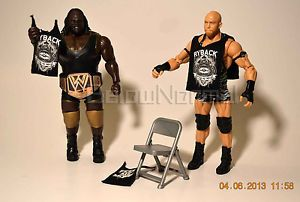 Ryback Mark Henry Mattel WWE Wrestlemania Loose Shirt Championship Belt Chair