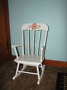 Vintage Strawberry Shortcake Child Size Rocking Chair Dated 1980 Hedstrom USA
