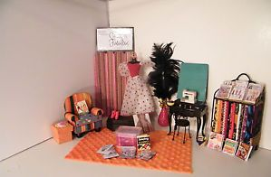 Barbie Furniture Doll House Sewing Machine Chair Patterns Plastic Canvas Lot T1
