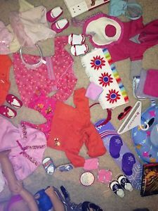 American Girl Lot of 2 Dolls Outfits Wheel Chair Lots of EXTRAS All Genuine AG