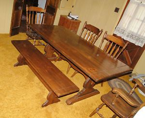 Ethan Allen Dining Room Set Early American 7 Pieces
