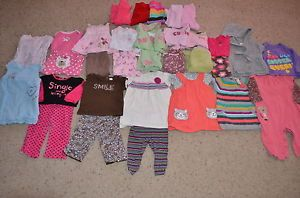 Huge Baby Girls Clothes Outfits Dresses Lot 6 9 Months TCP Carter's Old Navy