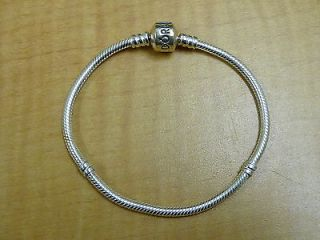 Beautiful Authentic Pandora 925 Ale Sterling Silver Charm or Bead Bracelet 7 5""