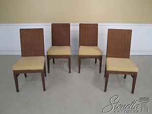 34694 Set of 4 Ethan Allen Wicker Dining Room Chairs