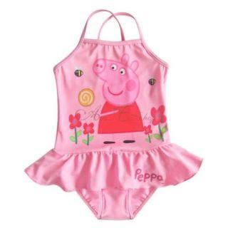 Peppa Pig Girls Kids Ruffle Swimsuit Swimwear Bathing Suit Swim Costume Sz 5 6