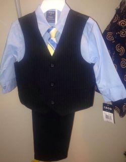 IZOD Toddler Boys 2T Suit Easter Wedding Church New Vest Pants Shirt Tie
