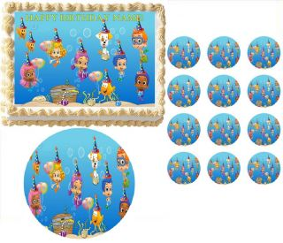 Bubble Guppies Birthday Party Edible Cake Topper Frosting Sheet All Sizes
