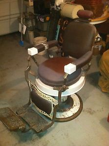 Restored 1920 39 s koken barber chair - Deco klassiek koken ...