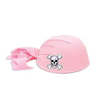 Pirate Theme Party Pink Head Scarf Hat Fancy Dress