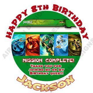 Ninjago All Lloyd Kai Jay Round Birthday Party Favor Bag Sticker Labels