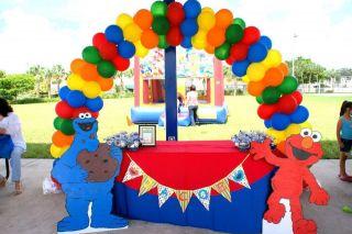 Sesame Street Elmo Cookie Monster Birthday Banner