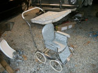 Antique Stroll O Chair Baby Carriage Stroller High Chair Rocker Desk Baby Seat
