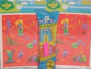 New Disney A Bugs Life Toy Party Supplies Lot Stickers Pez Dispenser Toys