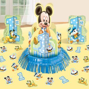 Disney Mickey Mouse 1st Birthday Table Decorating Kit Party Supplies Decorations
