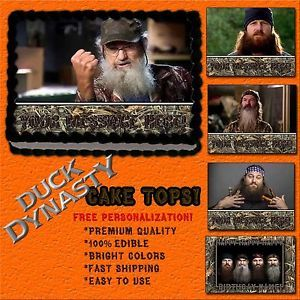 Duck Dynasty William SI Jase Phil Robertson Cake Edible Topper Photo Image Icing