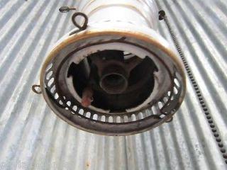 Antique Machine Age Industrial Gas Lamp Light Fixture Porcelain Enamel Steampunk