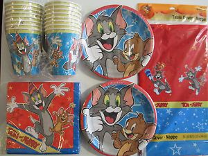Tom and Jerry Birthday Party Supplies Set Pack for 16