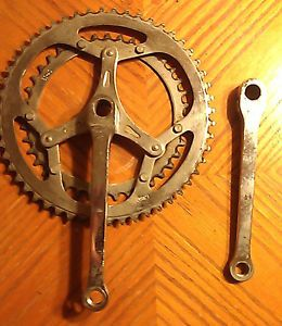RARE 1950's Bicycle Crankset Racing Jacque Anquetiel Era
