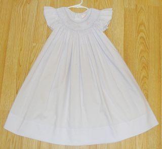 Girls Lavender Light Purple Smocked Angel Wing Dress Petit Ami 4T Easter VGUC