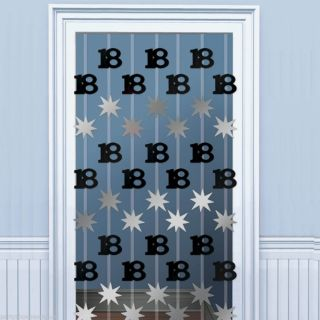 2M Happy 18th Birthday Black Door Doorway Danglers Party Decoration