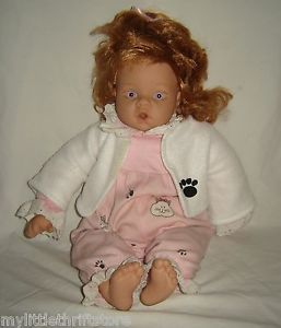 2000 Lee Middleton Original Girl Doll by Reva Red Hair Pink Eyes w Clothes