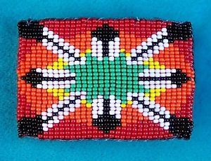 """""""Eagle Feathers"""" Native American Beaded Belt Buckle"""
