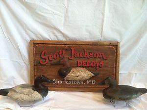 Vintage Decoy Maker Shop Sign Duck GOOSE Hunting Fishing Art Antique
